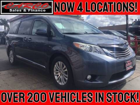 2013 Toyota Sienna for sale at CARCO SALES & FINANCE #3 in Chula Vista CA