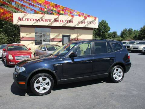 2008 BMW X3 for sale at Automart South in Alabaster AL