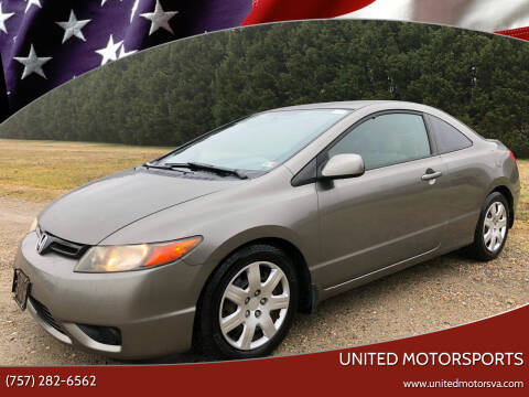 2008 Honda Civic for sale at United Motorsports in Virginia Beach VA