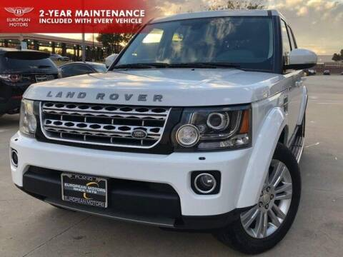 2015 Land Rover LR4 for sale at European Motors Inc in Plano TX