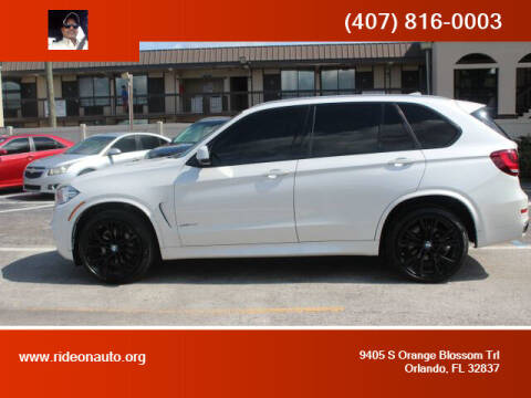 2017 BMW X5 for sale at Ride On Auto in Orlando FL