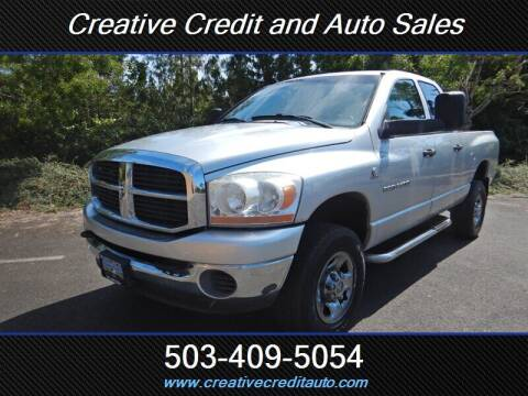 2006 Dodge Ram Pickup 2500 for sale at Creative Credit & Auto Sales in Salem OR