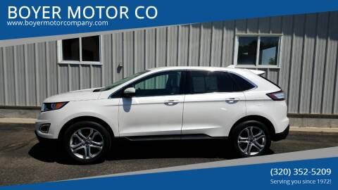 2017 Ford Edge for sale at BOYER MOTOR CO in Sauk Centre MN