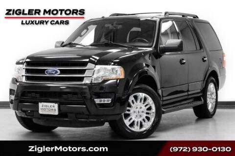 2017 Ford Expedition for sale at Zigler Motors in Addison TX
