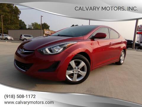 2015 Hyundai Elantra for sale at Calvary Motors, Inc. in Bixby OK