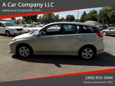 2004 Toyota Matrix for sale at A Car Company LLC in Washougal WA