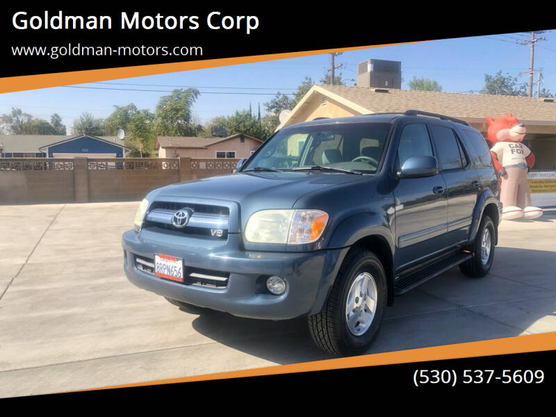 2005 Toyota Sequoia for sale at Goldman Motors Corp in Stockton CA