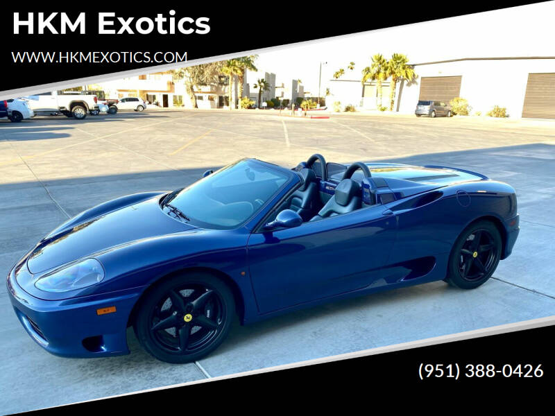 2001 Ferrari 360 Spider for sale at HKM Exotics in Corona CA
