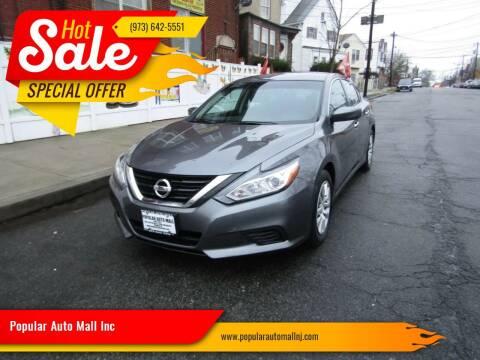 2018 Nissan Altima for sale at Popular Auto Mall Inc in Newark NJ