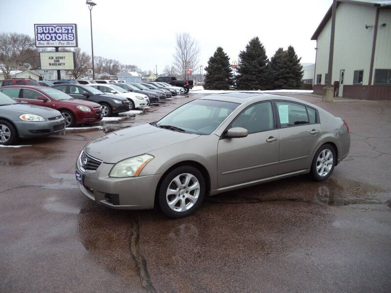 2007 Nissan Maxima for sale at Budget Motors in Sioux City IA