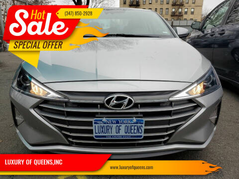 2020 Hyundai Elantra for sale at LUXURY OF QUEENS,INC in Long Island City NY