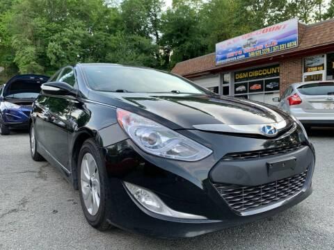 2013 Hyundai Sonata Hybrid for sale at D & M Discount Auto Sales in Stafford VA