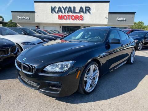 2015 BMW 6 Series for sale at KAYALAR MOTORS in Houston TX
