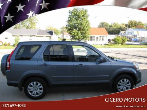 2006 Honda CR-V for sale at Cicero Motors in Cicero IN