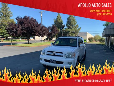 2005 Toyota Sequoia for sale at APOLLO AUTO SALES in Sacramento CA