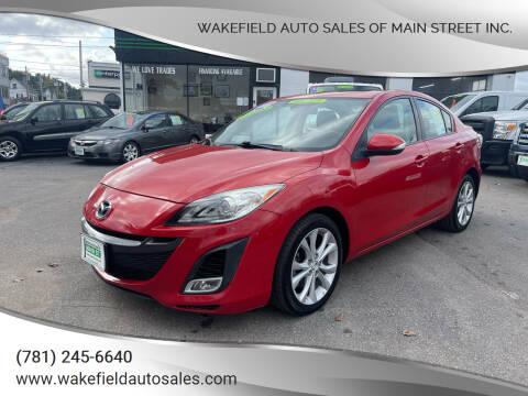 2010 Mazda MAZDA3 for sale at Wakefield Auto Sales of Main Street Inc. in Wakefield MA