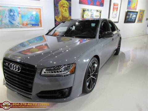 2017 Audi S8 plus for sale at The New Auto Toy Store in Fort Lauderdale FL
