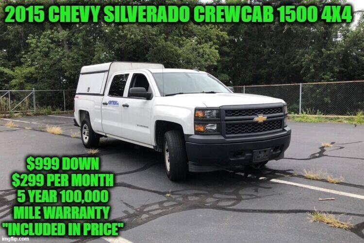 2015 Chevrolet Silverado 1500 for sale at D&D Auto Sales, LLC in Rowley MA