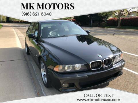 2001 BMW M5 for sale at MK Motors in Sacramento CA