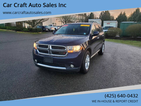 2013 Dodge Durango for sale at Car Craft Auto Sales Inc in Lynnwood WA
