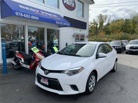 2016 Toyota Corolla for sale at Best Price Auto Sales in Methuen MA