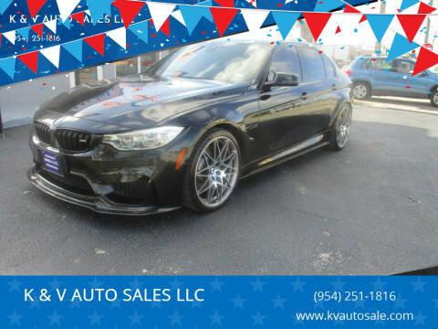 2016 BMW M3 for sale at K & V AUTO SALES LLC in Hollywood FL