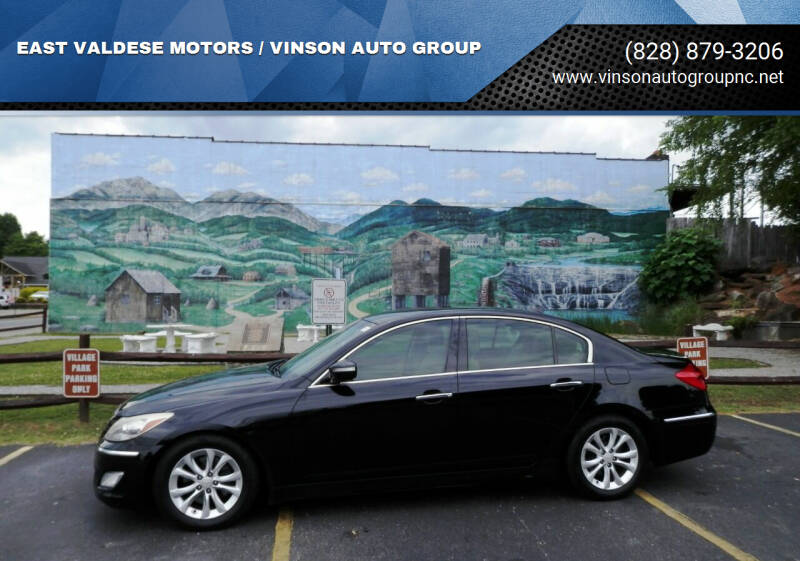 2012 Hyundai Genesis for sale at EAST VALDESE MOTORS / VINSON AUTO GROUP in Valdese NC