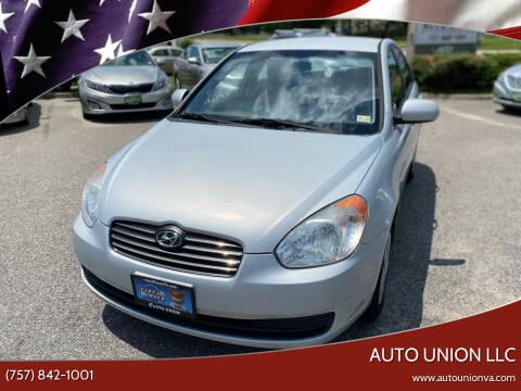 2010 Hyundai Accent for sale at Auto Union LLC in Virginia Beach VA