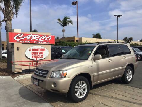 2006 Toyota Highlander Hybrid for sale at CARCO SALES & FINANCE in Chula Vista CA