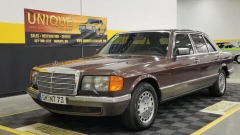 1983 Mercedes-Benz 500-Class for sale at UNIQUE SPECIALTY & CLASSICS in Mankato MN