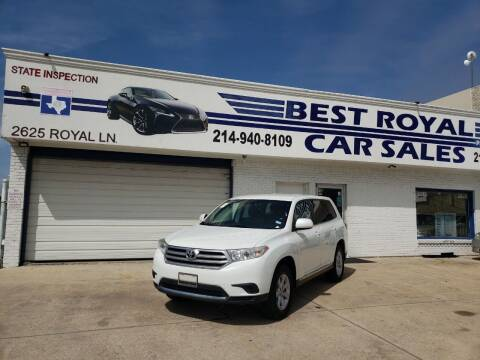 2013 Toyota Highlander for sale at Best Royal Car Sales in Dallas TX