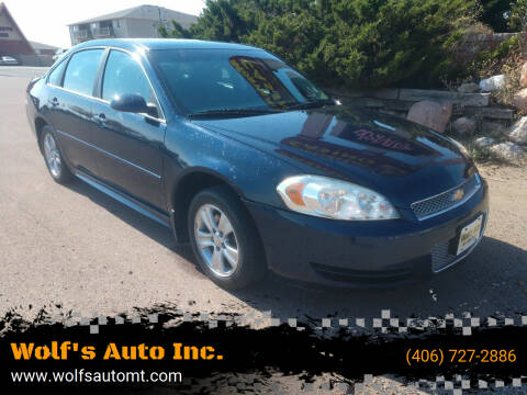 2012 Chevrolet Impala for sale at Wolf's Auto Inc. in Great Falls MT