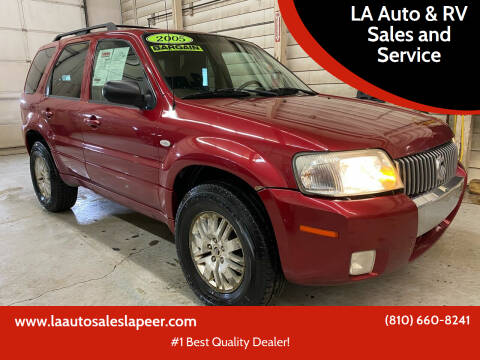2005 Mercury Mariner for sale at LA Auto & RV Sales and Service in Lapeer MI