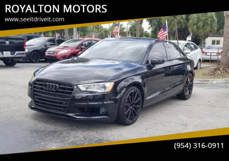 2016 Audi A3 for sale at ROYALTON MOTORS in Plantation FL
