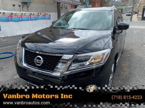 2013 Nissan Pathfinder for sale at Vanbro Motors Inc in Staten Island NY