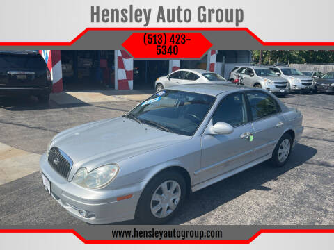 2003 Hyundai Sonata for sale at Hensley Auto Group in Middletown OH