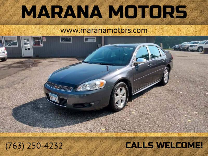 2011 Chevrolet Impala for sale at Marana Motors in Princeton MN