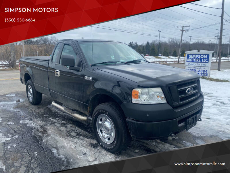 2007 Ford F-150 for sale at SIMPSON MOTORS in Youngstown OH