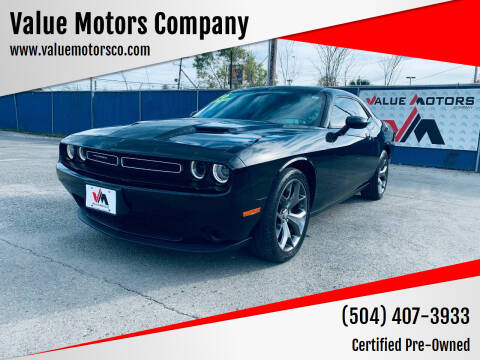 2016 Dodge Challenger for sale at Value Motors Company in Marrero LA