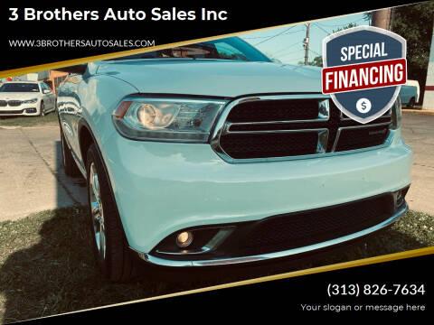 2015 Dodge Durango for sale at 3 Brothers Auto Sales Inc in Detroit MI