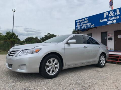 2011 Toyota Camry for sale at P & A AUTO SALES in Houston TX
