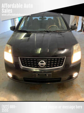 2008 Nissan Sentra for sale at Affordable Auto Sales in Dallas TX