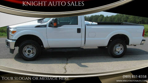 2013 Ford F-250 Super Duty for sale at KNIGHT AUTO SALES in Stanton MI