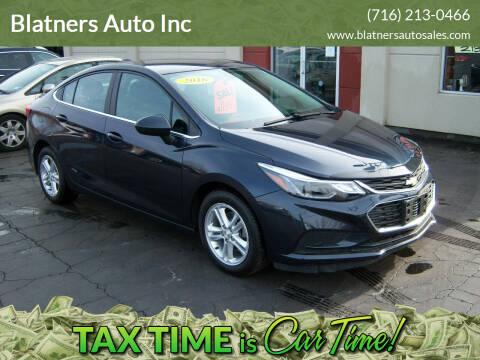 2016 Chevrolet Cruze for sale at Blatners Auto Inc in North Tonawanda NY