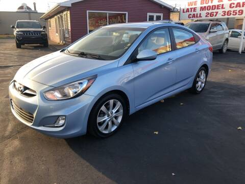 2012 Hyundai Accent for sale at N & J Auto Sales in Warsaw IN