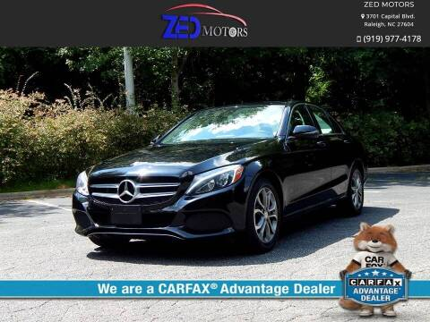 2016 Mercedes-Benz C-Class for sale at Zed Motors in Raleigh NC