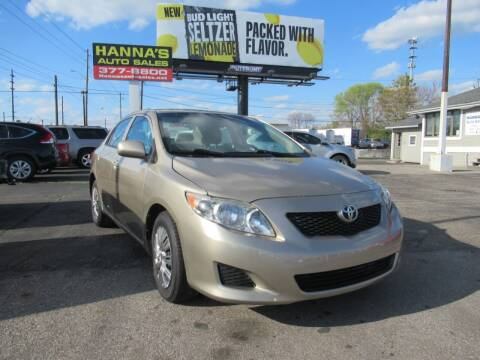 2010 Toyota Corolla for sale at Hanna's Auto Sales in Indianapolis IN