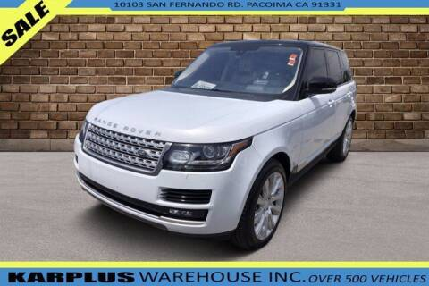 2016 Land Rover Range Rover for sale at Karplus Warehouse in Pacoima CA