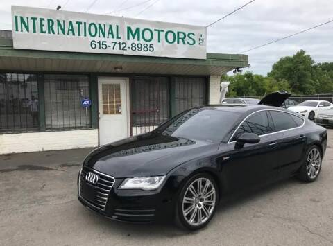 2013 Audi A7 for sale at International Motors Inc. in Nashville TN