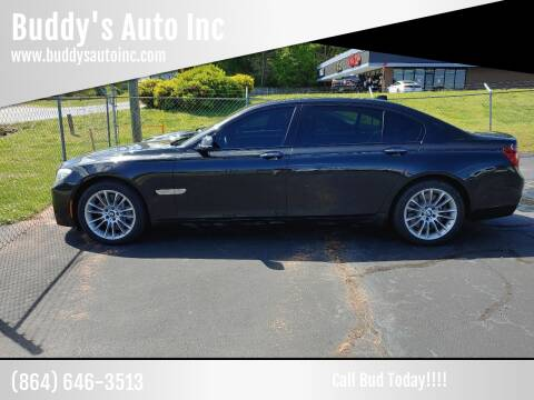 2013 BMW 7 Series for sale at Buddy's Auto Inc in Pendleton, SC